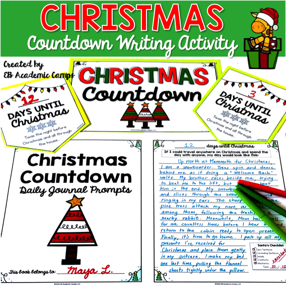 6 Christmas English Language Arts (ELA) Reading and Writing Activities for your Middle School Classroom! These holiday activities will be sure to get your students excited for Christmas!