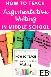 Teaching argumentative writing to your middle school and high school students can be SO hard! But this blog post and free step-by-step guide will really help teachers in their classrooms as they implement writing skills and strategies!