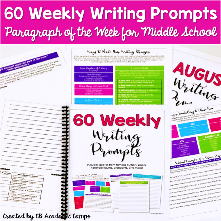 Paragraph of the week with this weekly writing prompts made such a difference in the quality of writing for our middle school students! It is honestly the perfect resource for any English Language Arts classroom!