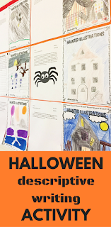 A fun and challenging Halloween writing activity for your middle school students! Get them using all kinds of figurative language and descriptive writing with this engaging activity for your classroom!
