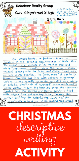A fun and challenging Christmas descriptive writing activity for your middle school English Language Arts (ELA) classroom! A must read!