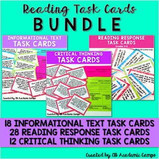 "Four fresh ideas for using task cards in your middle school ELA (English) classroom! From Socratic Seminar to ""Pass It Back"" - you'll love these new ideas for discussion questions!"