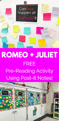 A fun and FREE pre-reading activity for Shakespeare's Romeo and Juliet! 5 thought-provoking questions that focus on the mains themes from the play - these will be sure to get your students excited and engaged!