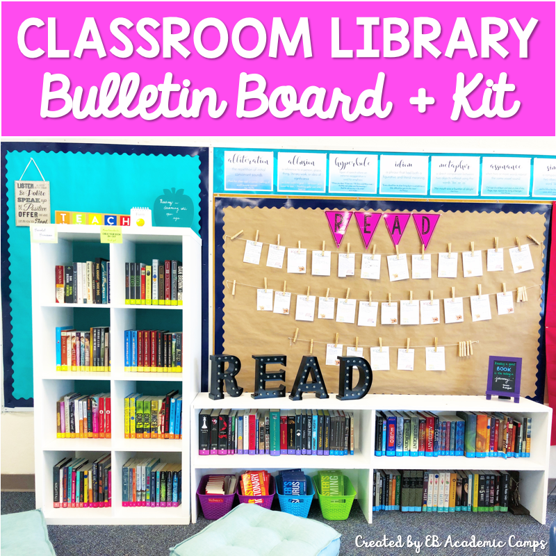 An easy and effective way to organize your middle school classroom library! Simple labels, bulletin boards, and ways to make your library a place where students are excited to come!