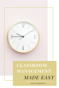 Classroom Management Strategy for Middle School