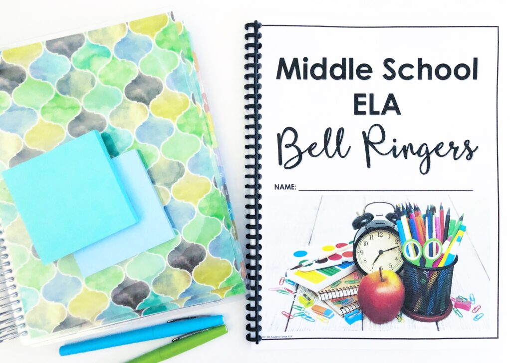 Cover of bell ringer resource with student planner