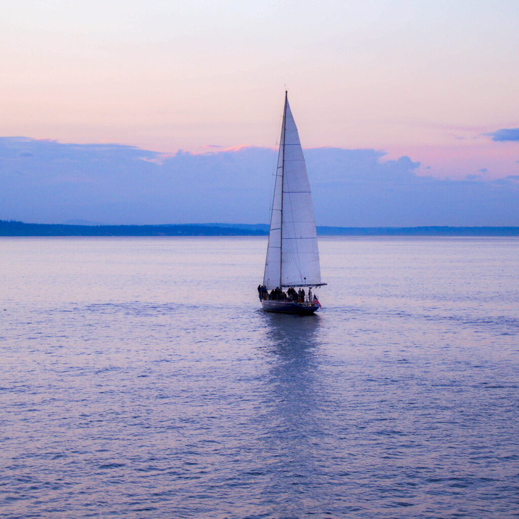 Sail boat on calm waters