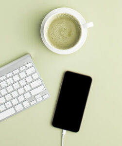 latte, keyboard, iphone